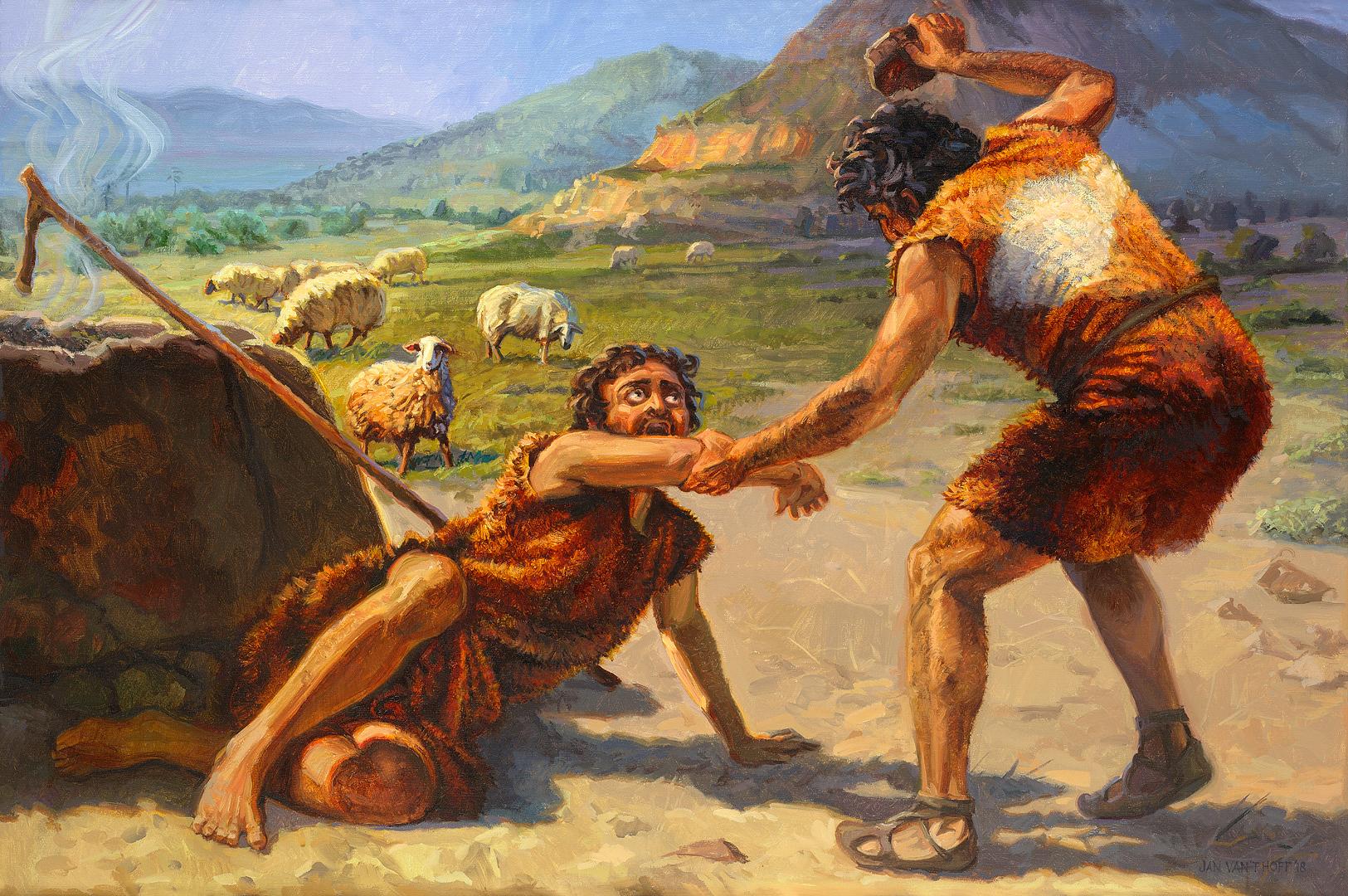 Cain kills Abel - Gospelimages